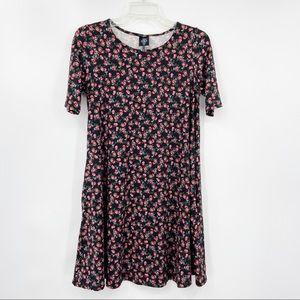 AGNES & DORA Floral Knit Dress Short Sleeve